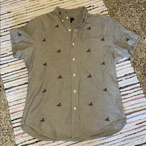J. Crew embroidered button up shirt